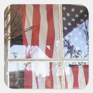 Les Etats-Unis, Orégon, Shaniko. Drapeau dans la Sticker Carré