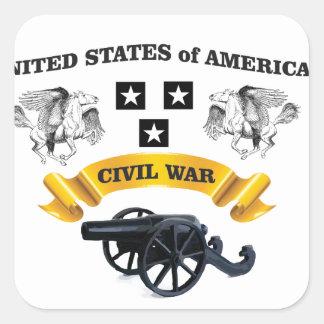 les Etats-Unis se sont envolés l'onde entretenue Sticker Carré