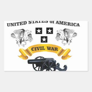 les Etats-Unis se sont envolés l'onde entretenue Sticker Rectangulaire