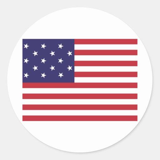 Les Etats-Unis tiennent le premier rôle le drapeau Autocollants