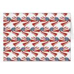 Les étoiles patriotiques barre des coeurs 4ème de carte de vœux