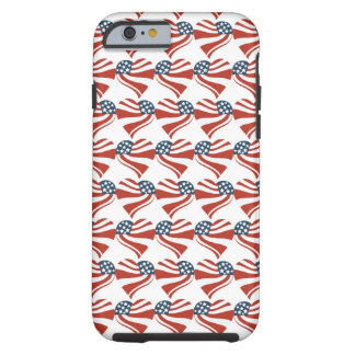Les étoiles patriotiques barre des coeurs 4ème de coque iPhone 6 tough