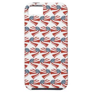 Les étoiles patriotiques barre des coeurs 4ème de étui iPhone 5