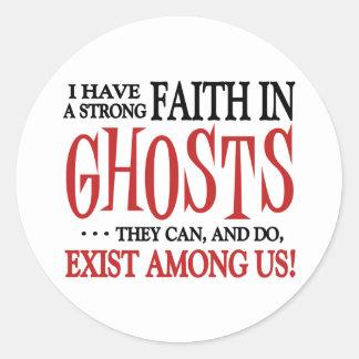 Les fantômes existent sticker rond