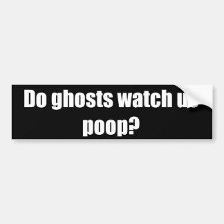 Les fantômes nous observent-ils dunette ? autocollant de voiture