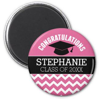 Les félicitations reçoivent un diplôme - magnet rond 8 cm