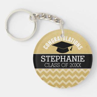 Les félicitations reçoivent un diplôme - porte-clé rond en acrylique double face