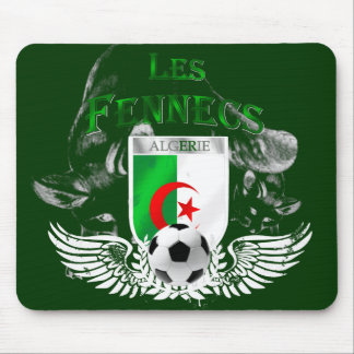 Les Fennecs Algeria flag Football mousepad