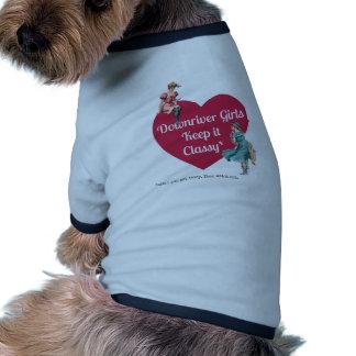 Les filles en aval le maintiennent chic manteaux pour chien