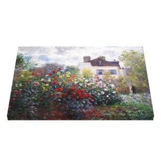 Les fleurs de Monet ont enveloppé la toile Toile Tendue