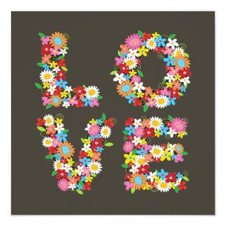 les fleurs de ressort d'AMOUR de fatfatin font Carton D'invitation 13,33 Cm