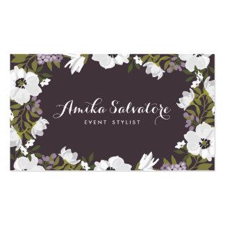 Les fleurs lilas d'anémone ont personnalisé floral carte de visite standard