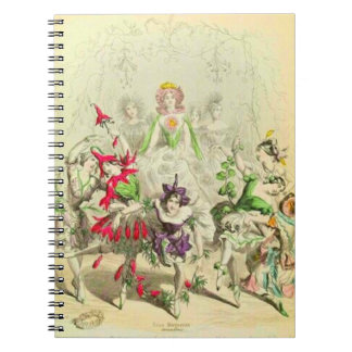 Les Fleurs Pansy Spiral Notebook