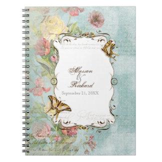 Les Fleurs Peony Rose Tulip Floral Flowers Wedding Spiral Notebook