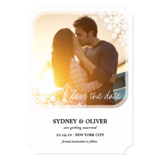 Les flocons de neige de vacances de mariage carton d'invitation  12,7 cm x 17,78 cm