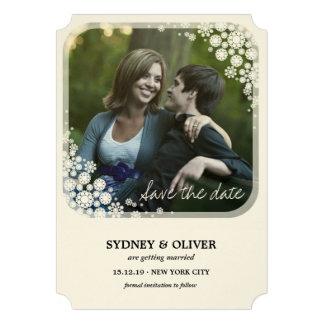 Les flocons de neige de vacances de mariage invitations