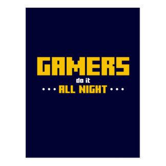 Les Gamers le font toute la nuit Carte Postale