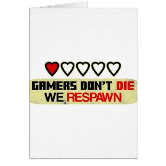 Les Gamers ne meurent pas Carte De Vœux