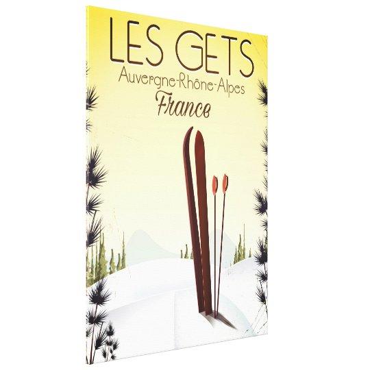 Les Gets France ski travel poster Canvas Print