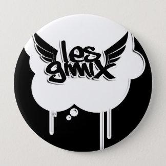 Les Gimix White Bubble Button