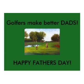 Les golfeurs font à de meilleurs PAPAS des cartes Carte Postale