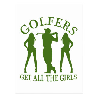 Les golfeurs obtiennent toutes les filles cartes postales
