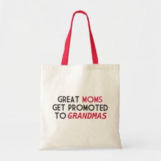 Les grandes mamans obtiennent favorisées aux sac en toile budget