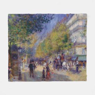 Les Grands Boulevards by Renoir Fleece Blanket
