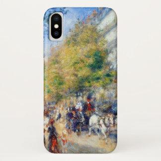 Les Grands Boulevards by Renoir iPhone X Case