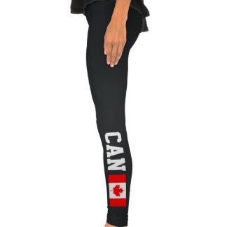 Les guêtres canadiennes de sports de drapeau Can Legging
