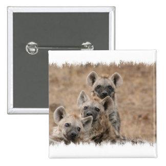 Les hyènes ajustent le Pin Macaron Carré 5 Cm