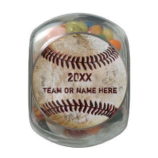 Les idées Personali de cadeau d'équipe de baseball Pot En Verre