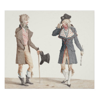 Les Incroyables - Reproduction of Vernet Engraving Poster