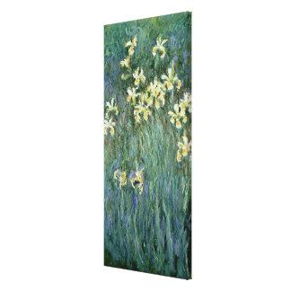 Les iris jaunes (huile sur la toile) toiles tendues sur châssis