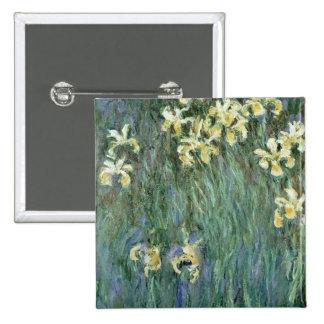 Les iris jaunes huile sur la toile badge