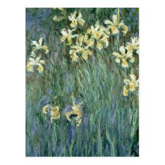 Les iris jaunes (huile sur la toile) cartes postales
