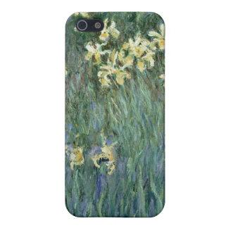 Les iris jaunes (huile sur la toile) coque iPhone 5