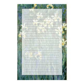 Les iris jaunes (huile sur la toile) papier à lettre personnalisé