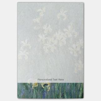 Les iris jaunes (huile sur la toile) notes autocollantes