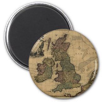 Les Isles Britanniques, 1700's Map Magnet