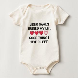 Les jeux vidéo ont ruiné mon style de vie 1 body pour bébé