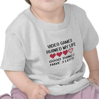 Les jeux vidéo ont ruiné mon style de vie 1 t-shirts