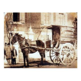 Les livraisons de boulangerie, France, circa 1900 Carte Postale