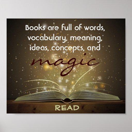 Les livres sont affiche magique d'instruction