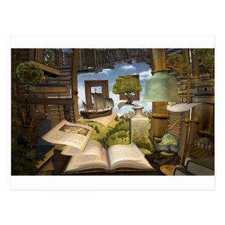 Les livres sont la connaissance ! carte postale