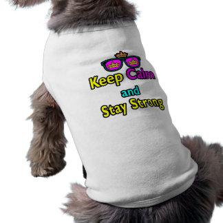 Les lunettes de soleil de couronne de hippie garde t-shirts pour animaux domestiques