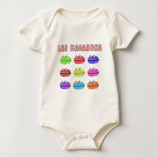 Les Macarons Cute Cartoon Baby Bodysuit