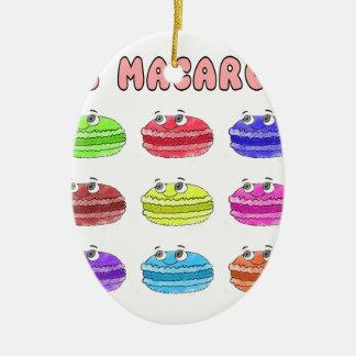 Les Macarons Cute Cartoon Ceramic Oval Ornament