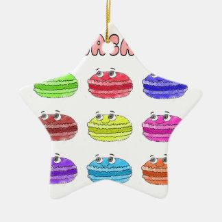 Les Macarons Cute Cartoon Ceramic Star Ornament
