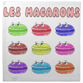 Les Macarons Cute Cartoon Napkin